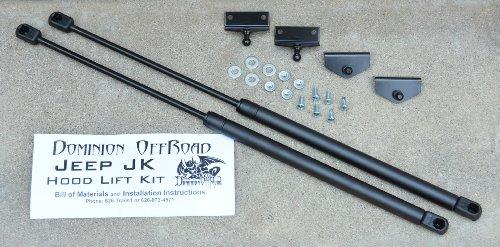 Dominion OffRoad Jeep JK Wrangler Hood Lift Kit 2007 to -