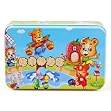 PigBangbang Deluxe Wooden 60 Piece Jigsaw Puzzle With Iron Box 8.95.5''Buy 1 Get 1 Free Anime Naughty Bear