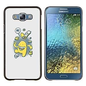 Lindo Cookies- Metal de aluminio y de plástico duro Caja del teléfono - Negro - Samsung Galaxy E7 / SM-E700