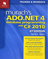 Now in its 4th Edition, this book shows C# developers how to use Visual Studio and ADO.NET to develop database applications the way the best professionals do. You'll learn how to:quickly create Windows and web applications by dragging-and-dro...