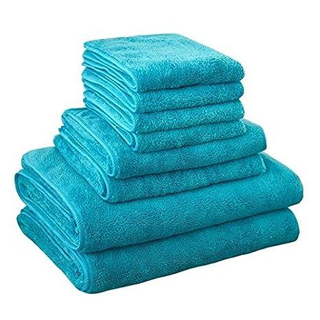 panlom® 8 piezas Juego de toalla de baño familia uso diario Super suave y muy