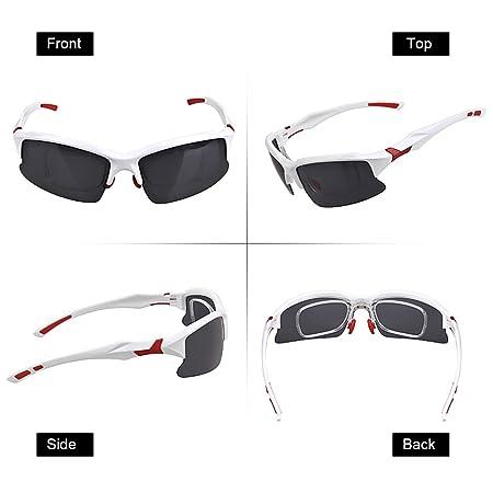 Festnight Unisex Polarisierte Sonnenbrille Sport Radfahren Brille Fahrradbrille UV-Schutz Linse für Outdoor Angeln Golfen Fahren Laufen Sports DVEeaC