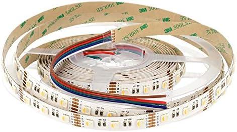 24V tira Strip LED de 5metros con 300SMD 5050RGBW (precisamente RGB + NW, cioè adquirir el LED SMD Fa 4colores, Rojo Verde Azul y Blanco Neutro), doble cara 3M IP20
