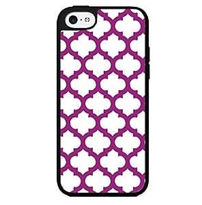 Purple Print Hard Snap on Phone Case (iPhone 5c)