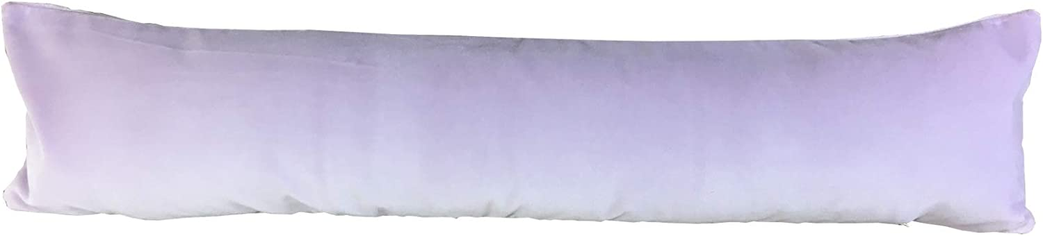 Classic Home Store Velvet Draught Excluder Zipped Soft Door Draft Guard Cushion Polyester Fibre Filling (Lilac)