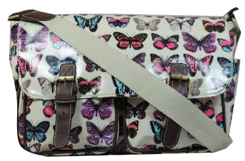 Off Butterfly in print white Multicolor Bag Satchel gd8gXw