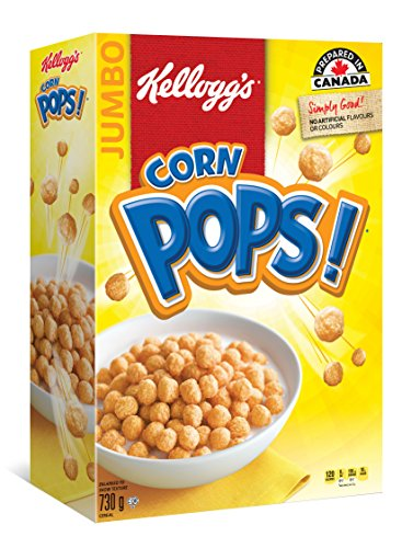 Kellogg's Corn Pops Cereal Jumbo Size 730 Gram/25.75 ounces {Imported from ()