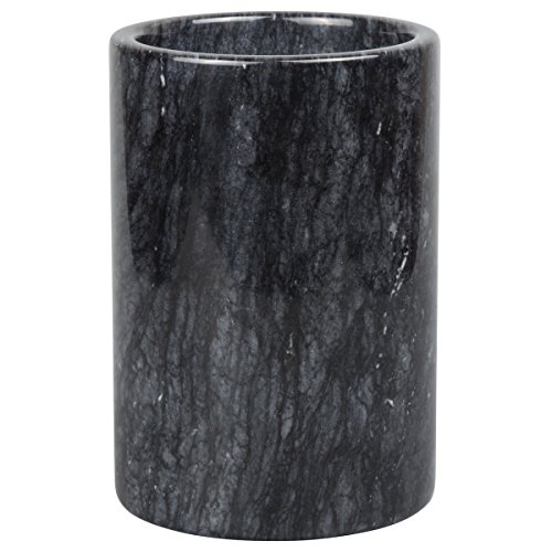 Black Utensil Holder (Creative Home Marble Multi-Functional Tool Crock, Black)