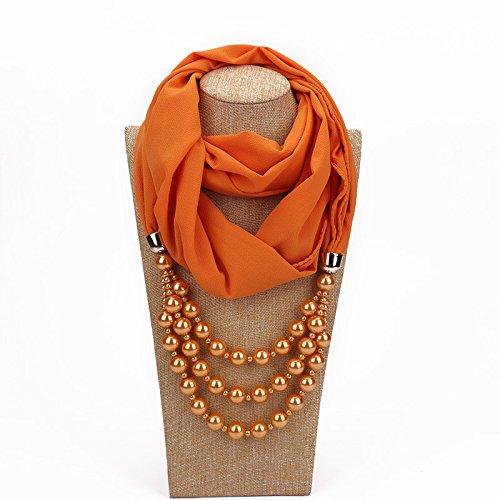 バイパス舌書道DuRone - シミュレートされた真珠のネックレスPendnat女性のシルクスカーフジュエリー装飾ファッション春民族パールジュエリーギフト
