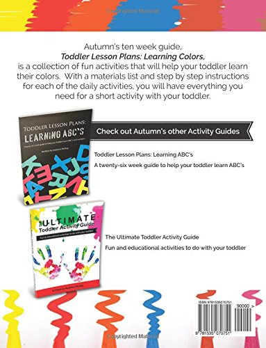 toddler lesson plans learning colors ten week guide to help your