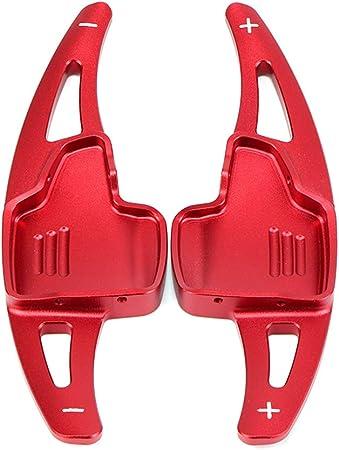 Ontto 2 Stücke Auto Lenkrad Schaltpaddel Schaltwippen Verlängerung Aluminiumlegierung Lenkradschaltung Für Ecosport Focus Kuga Schaltppaddel Erweiterung Dekoration Aufkleber Rot Auto