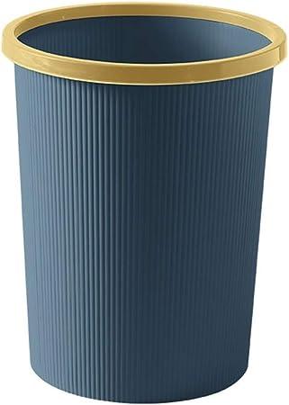 MAGIDF Papelera de ratán de plástico, Ligera, Duradera, para el hogar, jardín, Cocina, Basura reciclada, Cubo de Basura de plástico, Azul Marino, 21×25cm: Amazon.es: Hogar