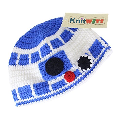 Knitwits Star Wars R2D2 Crochet Beanie (Large) (R2d2 Hat)