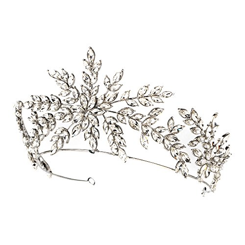 Rodeo Couture Bridal Silver Clear Bridal Tiara, Crystal Tiaras, Crystal Headpieces, Bridal Headpieces, Bridal Tiaras, Wedding Headpieces, Wedding Tiaras by Rodeo Couture Bridal