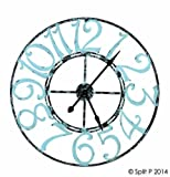 Split P Metal Clock, Spa Blue