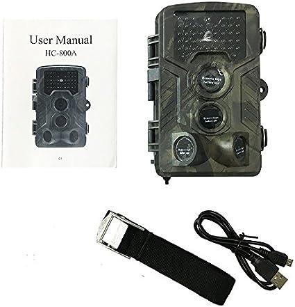 Caza HC800A Cámara Trail HD 1080P 16MP IR visión nocturna de la vida silvestre Scouting Cam