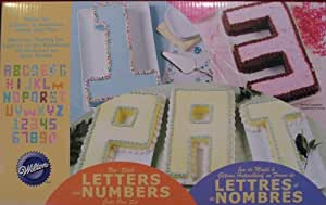Wilton 2105-0407 Letters and Numbers Cake Pan Set