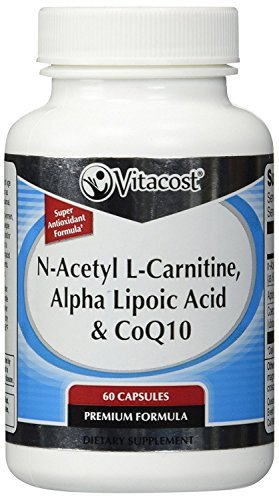Vitacost CoQ10 + Alpha Lipoic Acid + Acetyl L Carnitine HCl 60 Capsules