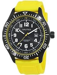 d7a560d57e2 NSR 105 Black Dial Silicone Strap Men s Watch NAD13527G · Nautica