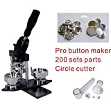 "32mm 1-1/4"" Interchangeable Mould Button Maker Badge Material KIT"