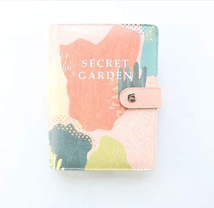 Cuadernos A6 Candy Tapa dura Cuero Oficina Escuela 6 Anillas ...