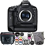 Canon EOS-1D X Mark II DSLR Camera with EF 50mm f/1.2L USM Lens 6PC Accessory Bundle – Includes 3PC Filter Kit (UV + CPL + FLD) + MORE - International Version (No Warranty)