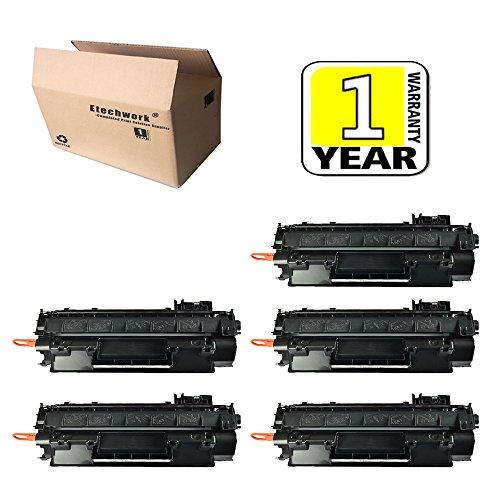 6 Pack Black CE505A 05A Toner Cartridge For HP LaserJet P2035 P2035n P2050 P2055