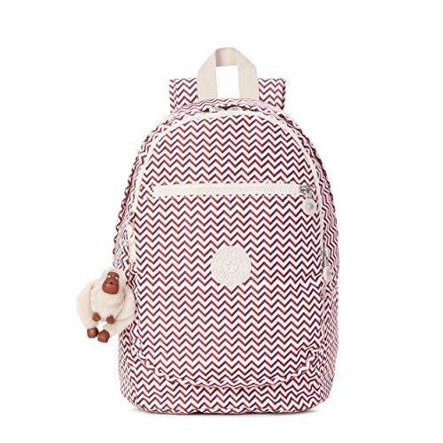 Kipling Women's Challenger Printed Backpack, Zest Red (Backpack Kipling Red)