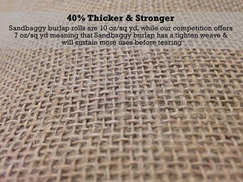 Sandbaggy Burlap Fabric Roll- for Garden, Yard, Wedding, Craft, Decorating Tables - 40 inch x 300 ft (1) by Sandbaggy (Image #3)