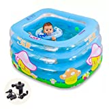 Bathtubs Freestanding Baby Swimming Pool Portable Insulation Inflatable Infant Child Baby Swimming Pool pad Pool Newborn tub (Color : Blue, Size : 11570cm)