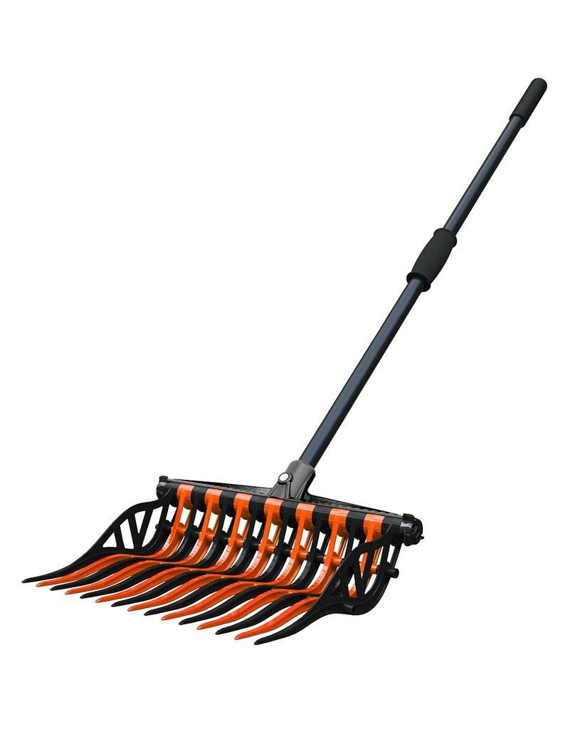 Noble Outfitters Wave Fork Manure Pooper Scooper Orange Black 41106 by Noble Outfitters