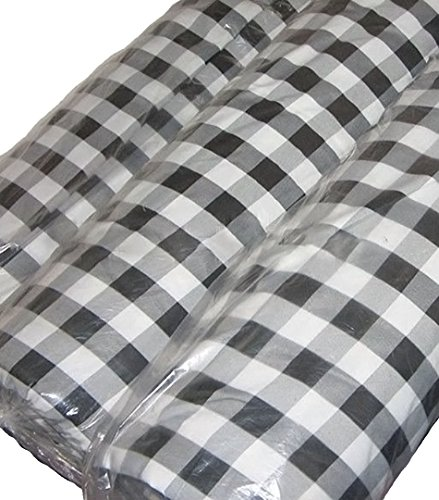 GFCC 60x102-Inch Rectangular Polyester Tablecloth Checker,Black and White by GFCC (Image #5)