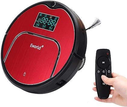 RLUJIUSR Ultrafino Robot Aspirador Robot con Panel Táctil De ...