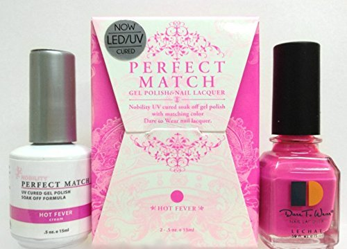 LeChat Perfect Match DUAL SET Soak Off Gel Polish and Dare to Wear Nail Lacquer - Hot Fever - PMS44