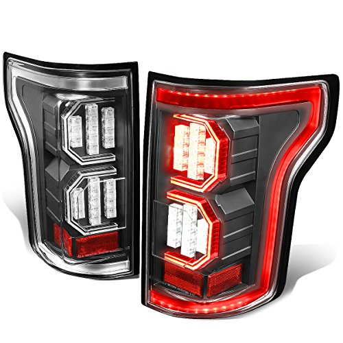 For Ford F-150 3D LED Light Bar Tail Lights Lamp (Clear Lens/Black Housing) - 13th ()