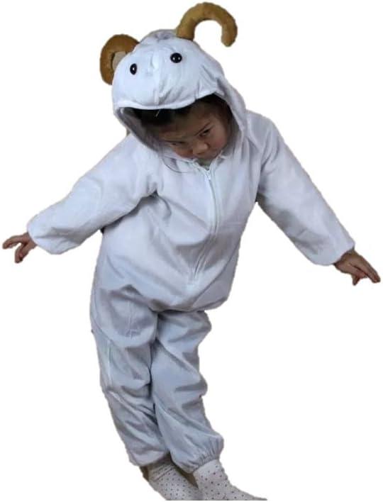 Niños Disfraces de Animales Niños Niñas Unisex Disfraces Cosplay Niños Onesie (Cabra, M (para niños de 90 a 105 cm de Altura))