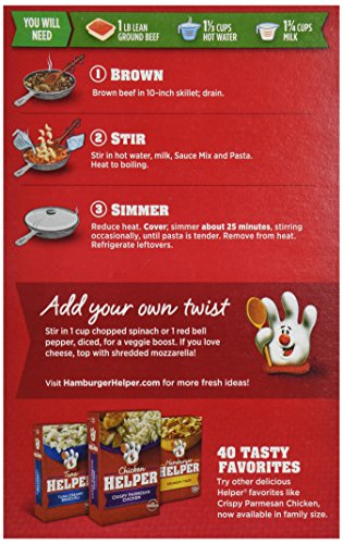 Betty Crocker Hamburger Helper Cheesy Italian Shells Hamburger Helper 6 1 Oz Box Grocery Gourmet Food