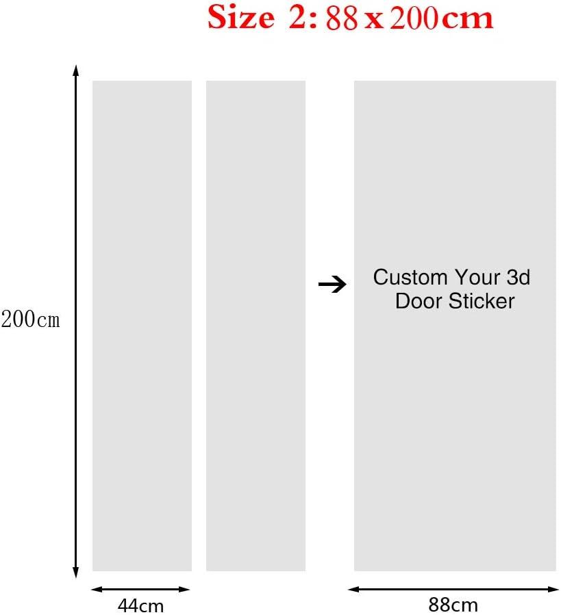 ZHANGXYD Autocollant De Porte 3D Belle Nuit en Ville 77x200cm Auto Adh/ésif Amovible Porte Poster Imperm/éable PVC Autocollants De Porte Muraux Cuisine Salle de Bain Chambre denfant Art Decor Affiche