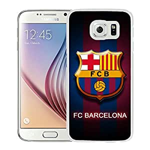 Fashion And Antiskid Cover Case For Samsung Galaxy S6 With Barcelona White Phone Case 11