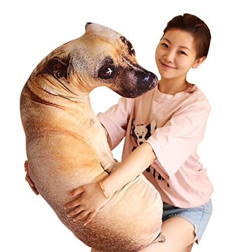 L&J 3d Plush Toy Creative Lifelike Dog Cute Pillow-A 90(35inch)