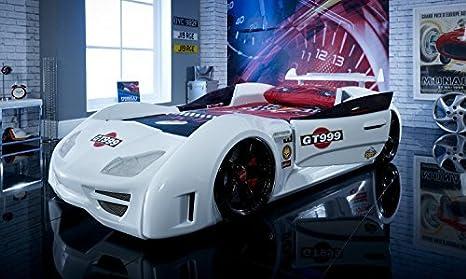 Letto A Forma Di Macchina Da Corsa : Letto per bambino a forma di auto da corsa gt999 con luci led e