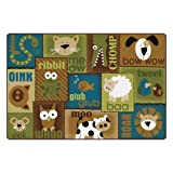 Carpets for Kids 18724 Animal Sounds Kids Rug Size: 4' x 6' 4' x 6' , 4' x 6' , Multicolored