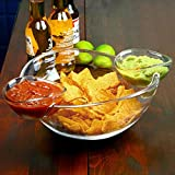 Chip and Dip Bowl with 2 Clip-On Side Dip Dishes