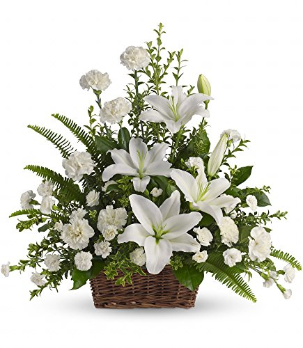 Basket Lily Arrangement (Chicago Flower Co. - Peaceful White Lilies Basket - Fresh and Hand Delivered)