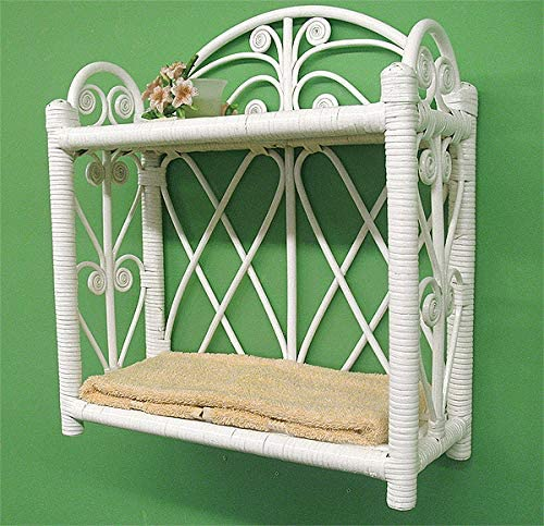Heart SidesTwo Tier Wicker Wall Rack