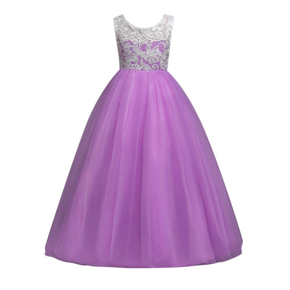 Loveble Girls Lace Princess Dress Sleeveless Formal Party Wedding Bridesmaid Tulle Dresses