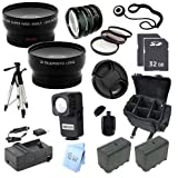 ULTRA PRO ACCESSORY PACKAGE: for Sony HXR-NX5U NXCAM Professional Camcorder
