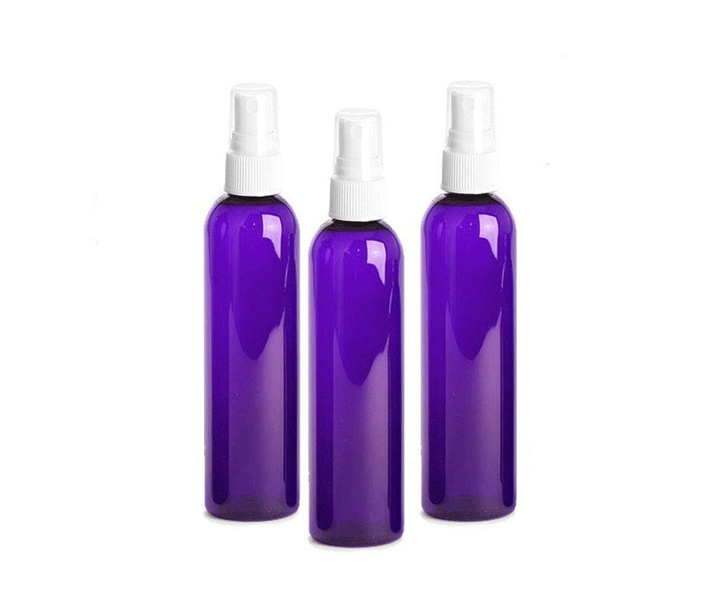 ; Beauty Care 3-Pack with White Fine Mist Atomizer Caps Aromatherapy Grand Parfums 4oz Amber Plastic Refillable PET Cosmo Spray Bottles BPA-Free Travel Use Home Cleaning DIY