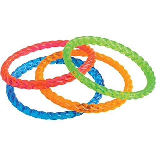 Lot Of 12 Assorted Color Child Size Plastic Bangle Bracelets -