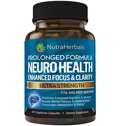 Brain Booster Supplement -60 Day Supply Nootropics Support Mental Clarity, Memory & Focus. Scientifically Formulated - DMAE, Rhodiola Rosea, Bacopa Monnieri, Alpha Brain Max